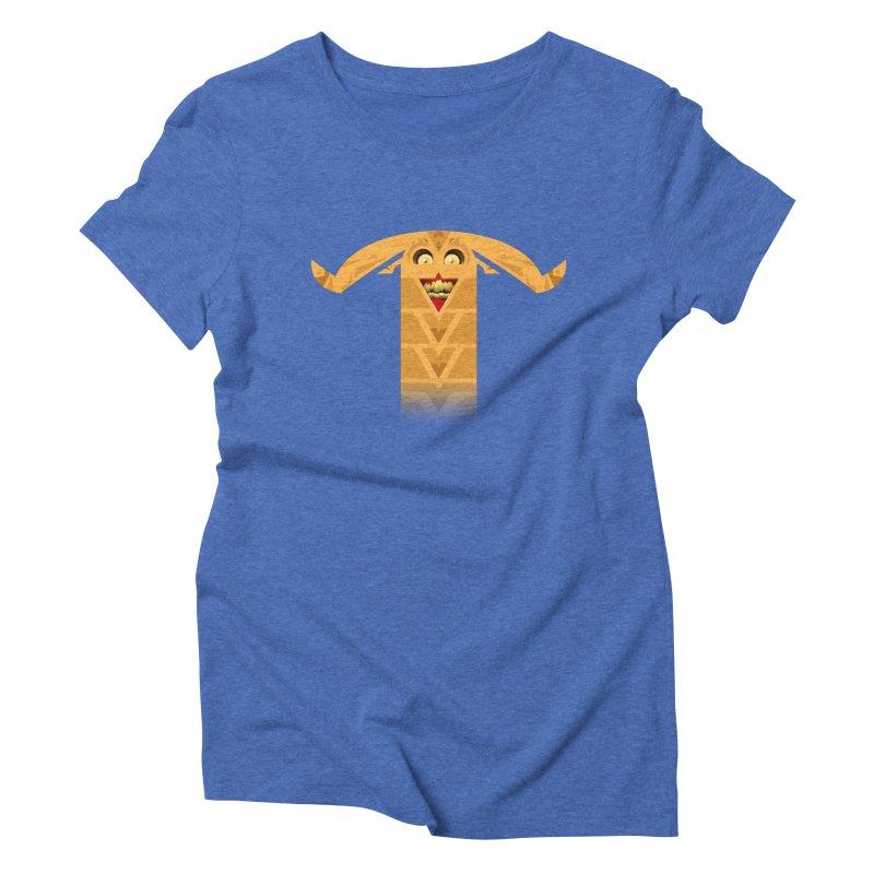 Mr. Yuchyux (orange smiling) Women's Triblend T-Shirt by BEeow's Artist Shop