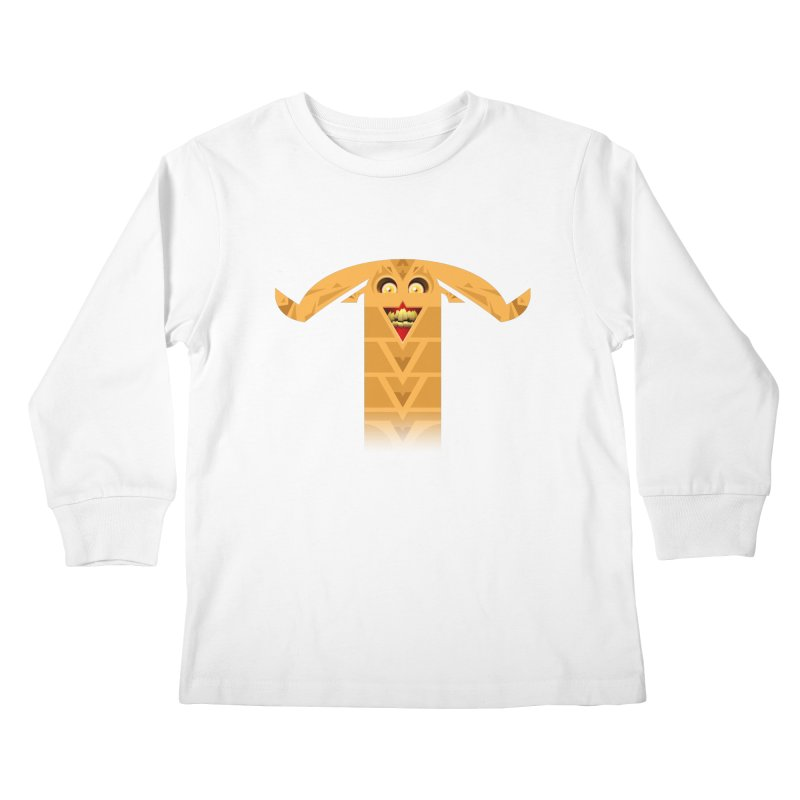 Mr. Yuchyux (orange smiling) Kids Longsleeve T-Shirt by BEeow's Artist Shop
