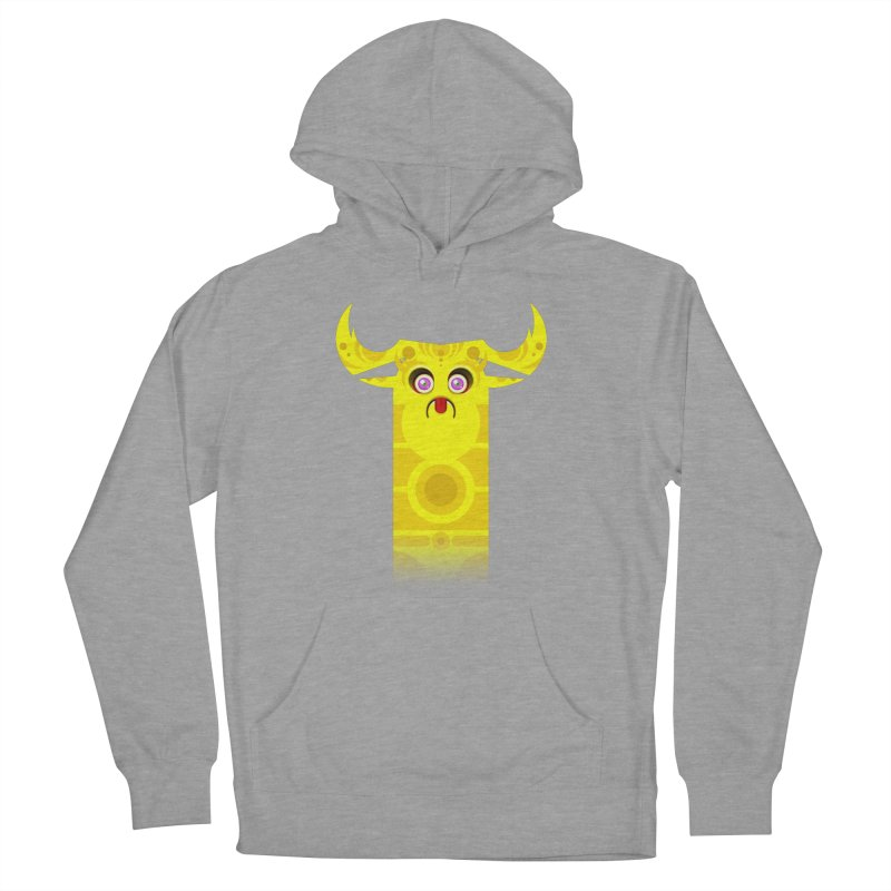 Mr. Yuchyux (yellow frowning) Women's French Terry Pullover Hoody by BEeow's Artist Shop
