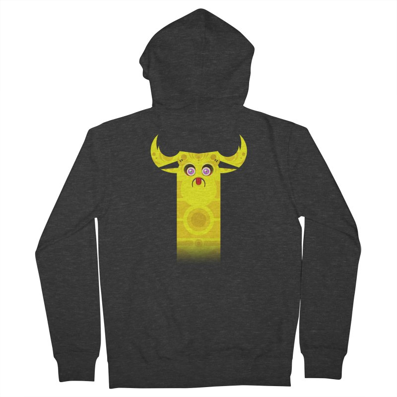 Mr. Yuchyux (yellow frowning) Men's French Terry Zip-Up Hoody by BEeow's Artist Shop