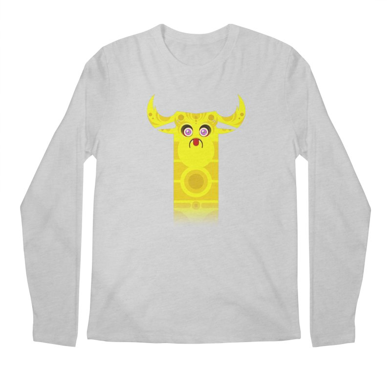 Mr. Yuchyux (yellow frowning) Men's Regular Longsleeve T-Shirt by BEeow's Artist Shop