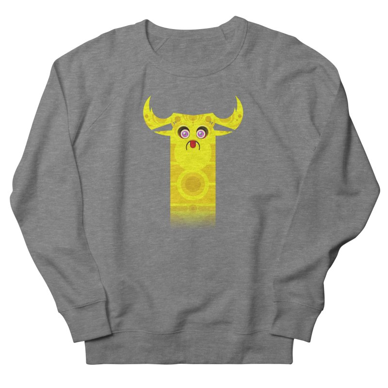 Mr. Yuchyux (yellow frowning) Men's French Terry Sweatshirt by BEeow's Artist Shop