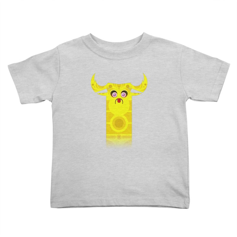 Mr. Yuchyux (yellow frowning) Kids Toddler T-Shirt by BEeow's Artist Shop
