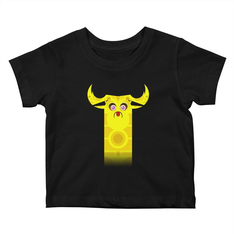 Mr. Yuchyux (yellow frowning) Kids Baby T-Shirt by BEeow's Artist Shop