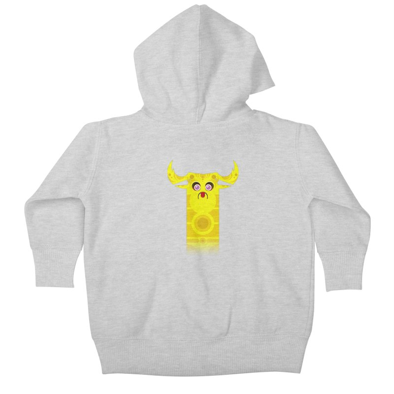 Mr. Yuchyux (yellow frowning) Kids Baby Zip-Up Hoody by BEeow's Artist Shop