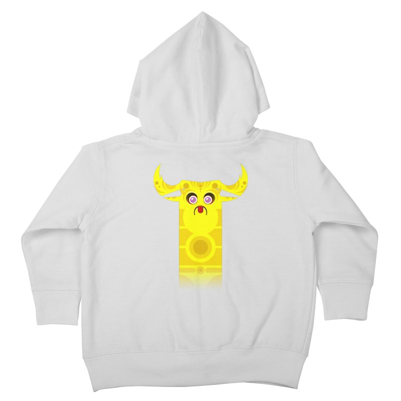 Mr. Yuchyux (yellow frowning) Kids Toddler Zip-Up Hoody by BEeow's Artist Shop