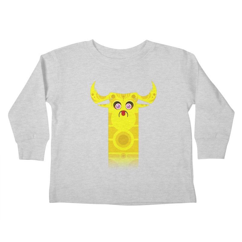 Mr. Yuchyux (yellow frowning) Kids Toddler Longsleeve T-Shirt by BEeow's Artist Shop