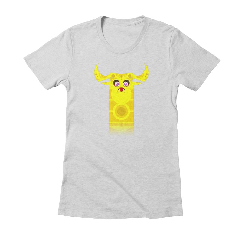 Mr. Yuchyux (yellow frowning) Women's T-Shirt by BEeow's Artist Shop