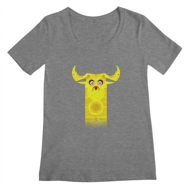 Mr. Yuchyux (yellow frowning) Women's Scoopneck by BEeow's Artist Shop