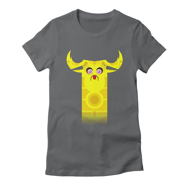 Mr. Yuchyux (yellow frowning) Women's Fitted T-Shirt by BEeow's Artist Shop