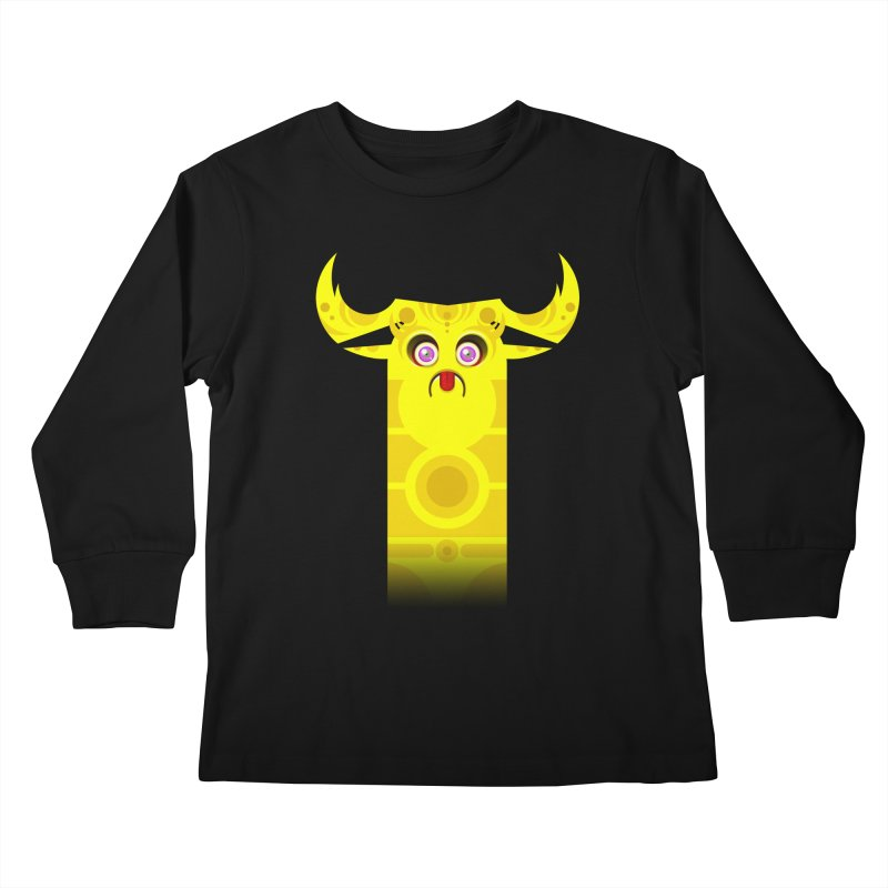 Mr. Yuchyux (yellow frowning) Kids Longsleeve T-Shirt by BEeow's Artist Shop