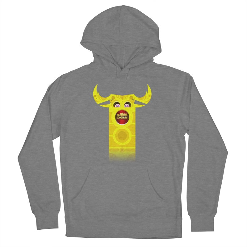 Mr. Yuchyux (yellow smiling) Men's French Terry Pullover Hoody by BEeow's Artist Shop