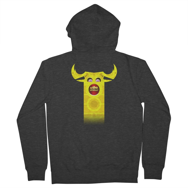 Mr. Yuchyux (yellow smiling) Men's French Terry Zip-Up Hoody by BEeow's Artist Shop