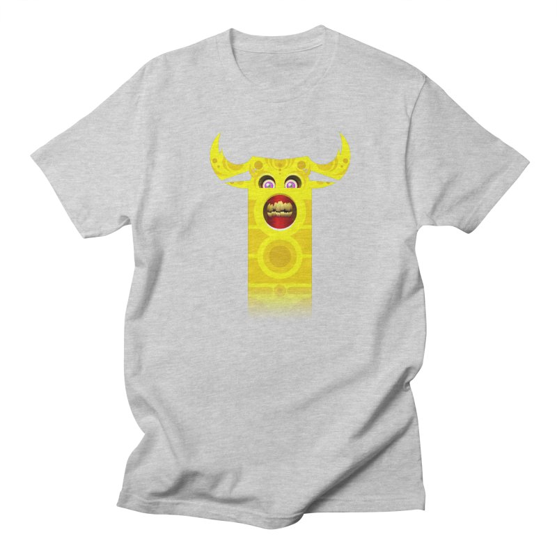 Mr. Yuchyux (yellow smiling) Men's Regular T-Shirt by BEeow's Artist Shop