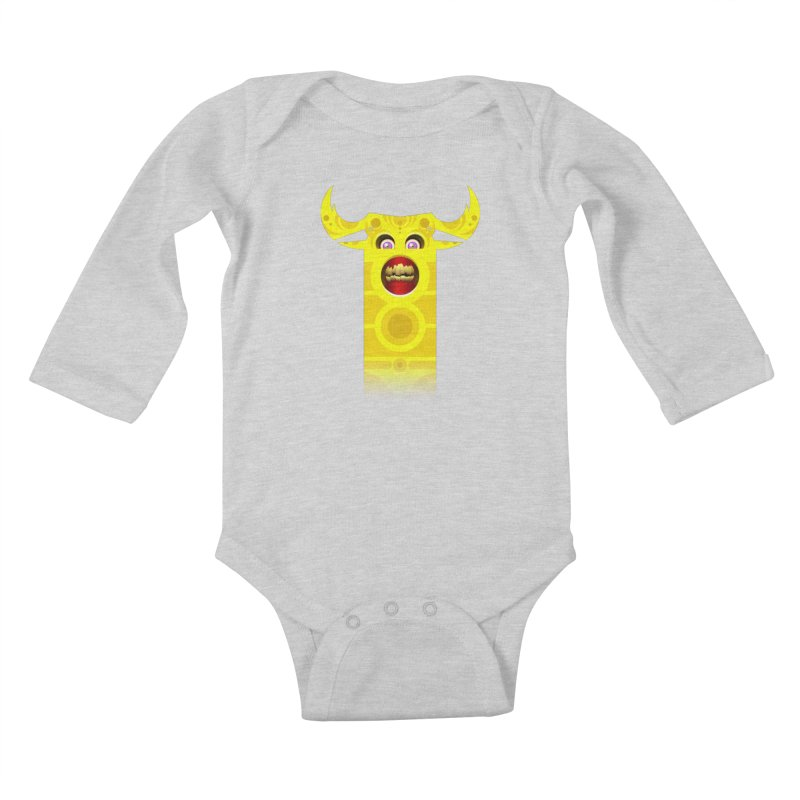 Mr. Yuchyux (yellow smiling) Kids Baby Longsleeve Bodysuit by BEeow's Artist Shop