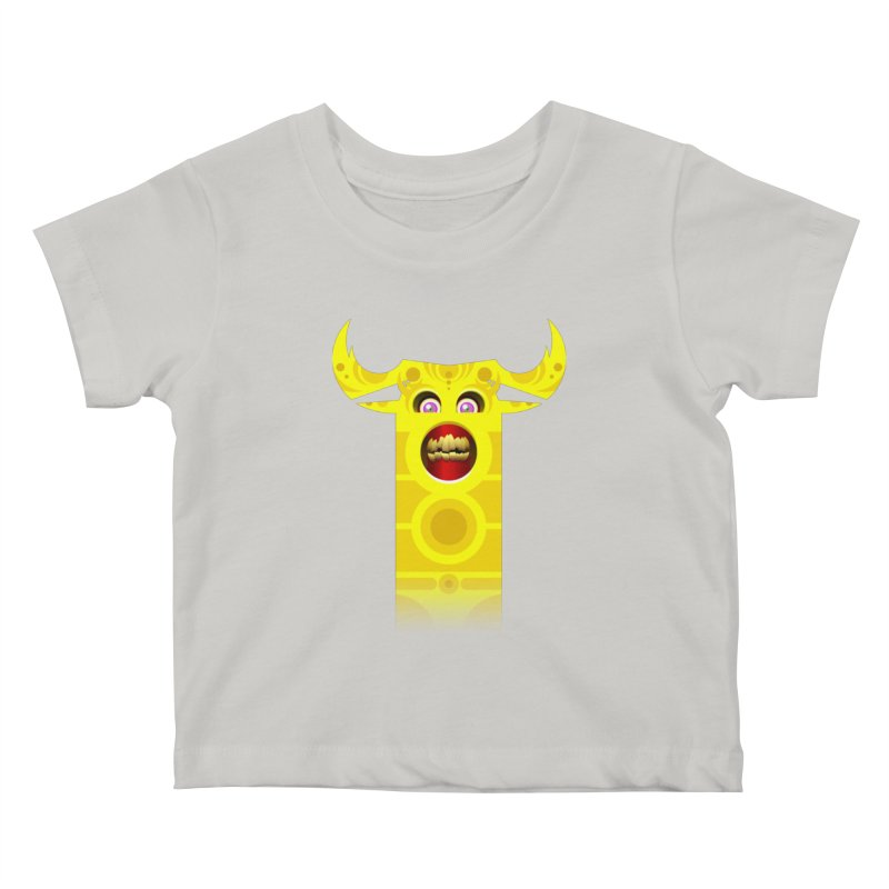 Mr. Yuchyux (yellow smiling) Kids Baby T-Shirt by BEeow's Artist Shop