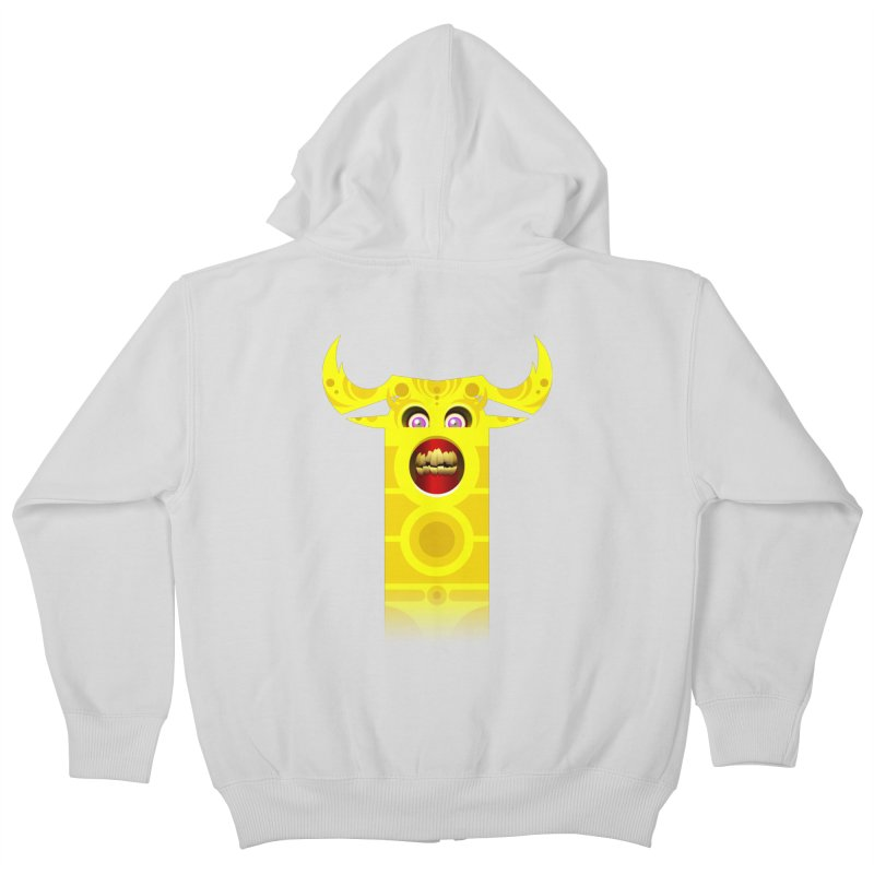 Mr. Yuchyux (yellow smiling) Kids Zip-Up Hoody by BEeow's Artist Shop
