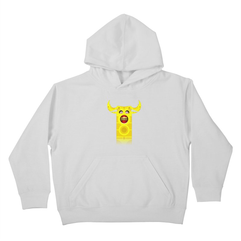 Mr. Yuchyux (yellow smiling) Kids Pullover Hoody by BEeow's Artist Shop