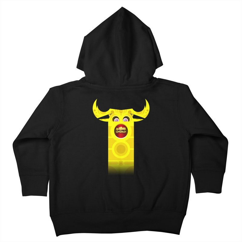 Mr. Yuchyux (yellow smiling) Kids Toddler Zip-Up Hoody by BEeow's Artist Shop