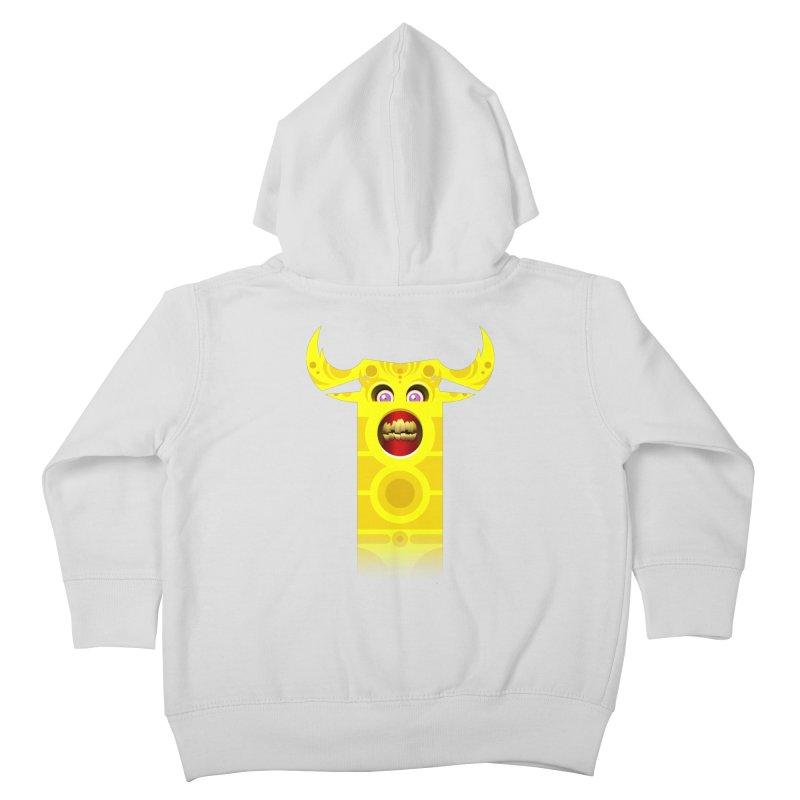 Mr. Yuchyux (yellow smiling) Kids Toddler Zip-Up Hoody by BEeow's Artist Shop