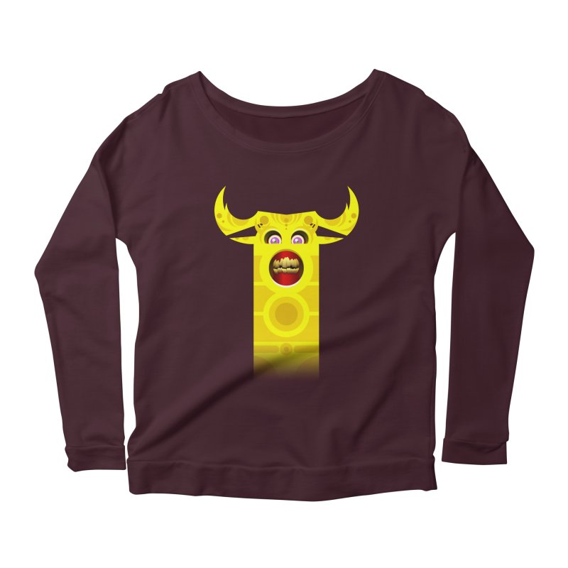 Mr. Yuchyux (yellow smiling) Women's Longsleeve Scoopneck  by BEeow's Artist Shop