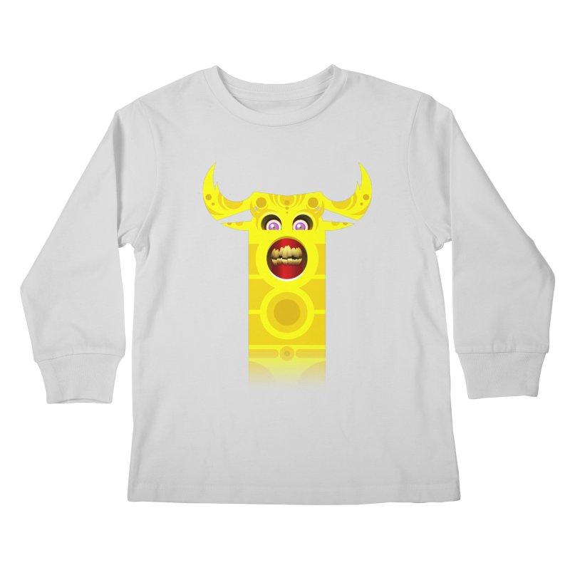 Mr. Yuchyux (yellow smiling) Kids Longsleeve T-Shirt by BEeow's Artist Shop
