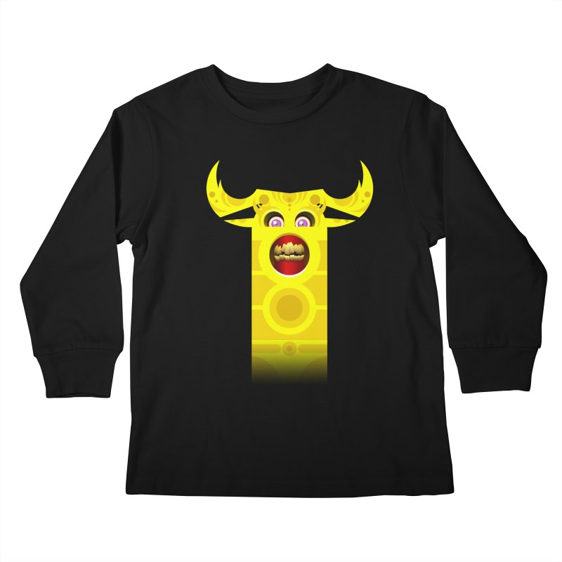Mr. Yuchyux (yellow smiling) Kids Longsleeve T-Shirt by BEeow's Artist Shop