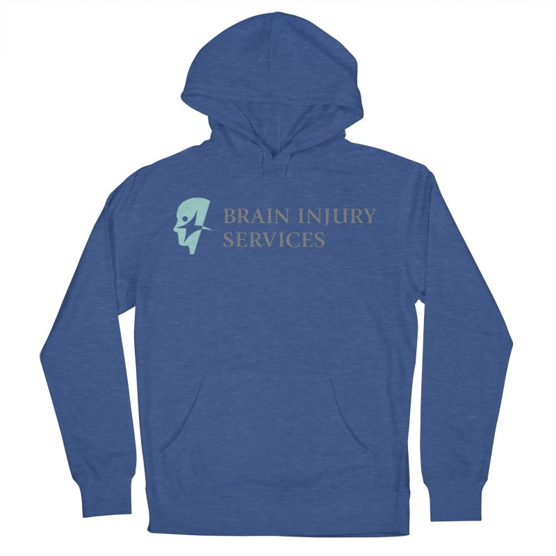 Brain Injury Services in Men's French Terry Pullover Hoody Heather Royal by Brain Injury Services Shop