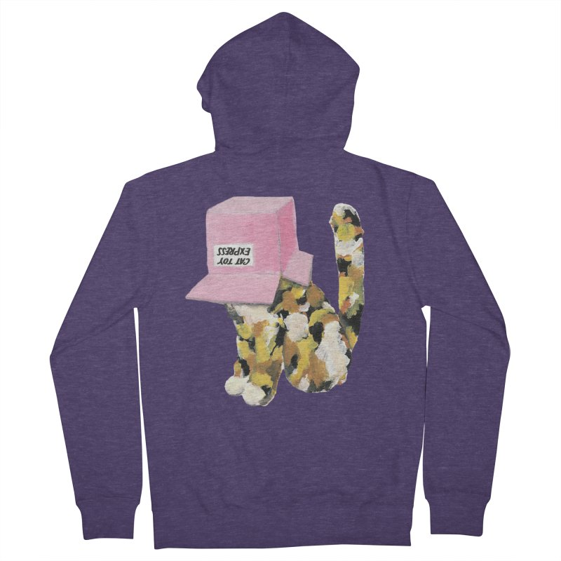 Cat in box Men's Zip-Up Hoody by BJcaptain's Artist Shop