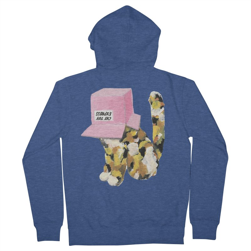 Cat in box Women's Zip-Up Hoody by BJcaptain's Artist Shop