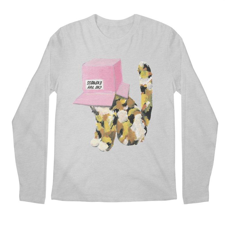 Cat in box Men's Longsleeve T-Shirt by BJcaptain's Artist Shop