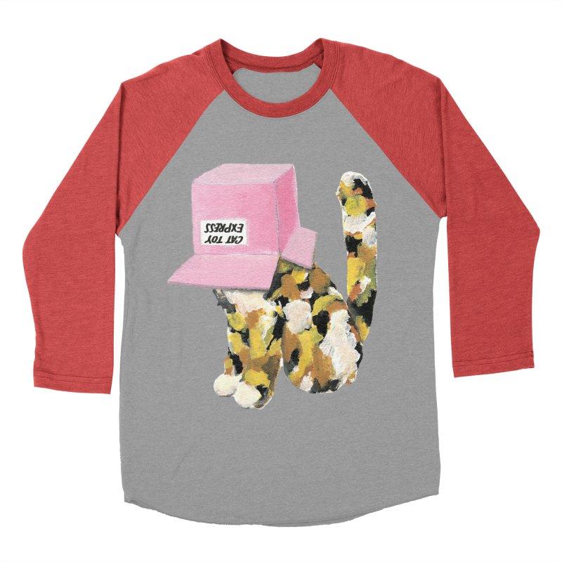 Cat in box Women's Baseball Triblend T-Shirt by BJcaptain's Artist Shop
