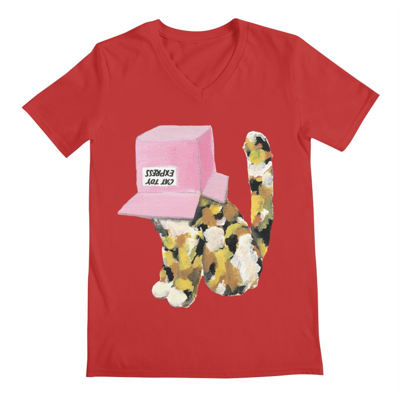 Cat in box Men's V-Neck by BJcaptain's Artist Shop
