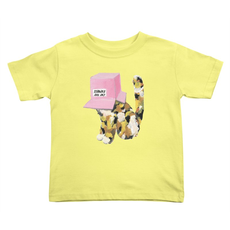 Cat in box Kids Toddler T-Shirt by BJcaptain's Artist Shop