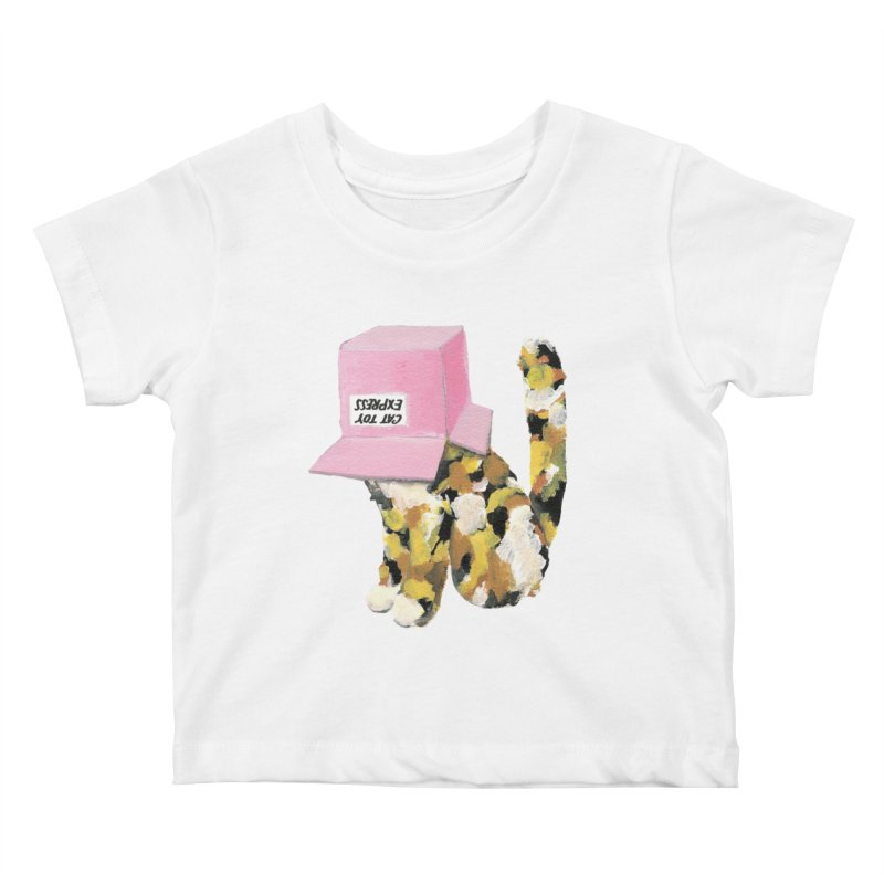 Cat in box Kids Baby T-Shirt by BJcaptain's Artist Shop