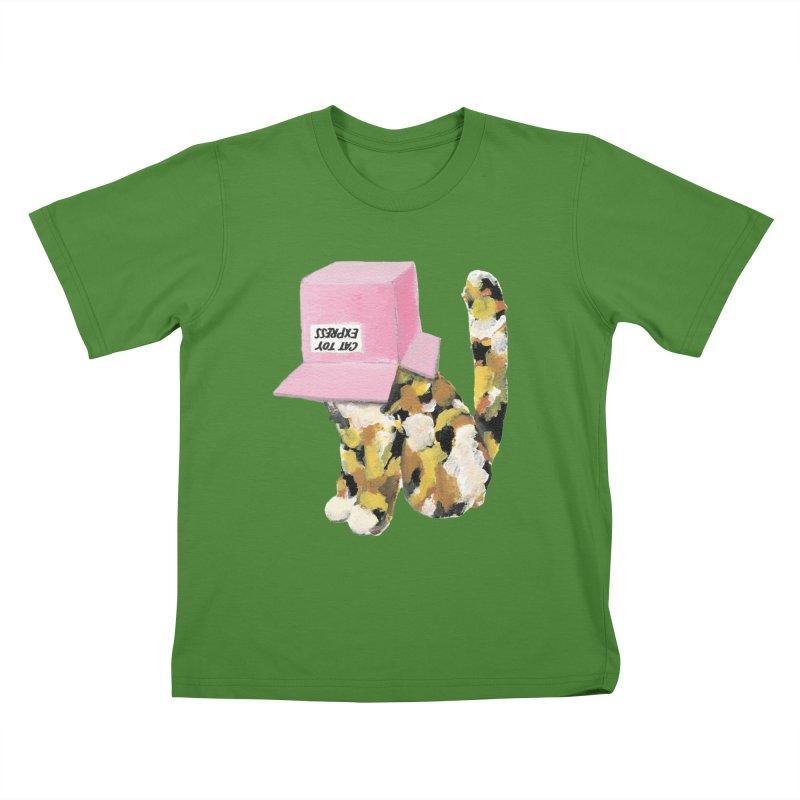 Cat in box Kids T-shirt by BJcaptain's Artist Shop