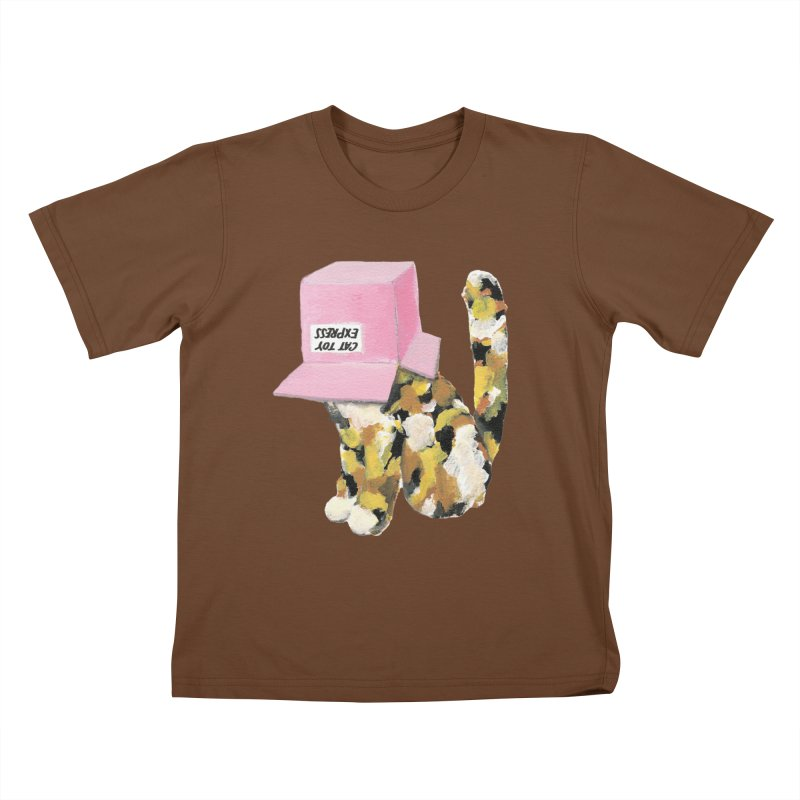 Cat in box Kids T-Shirt by BJcaptain's Artist Shop