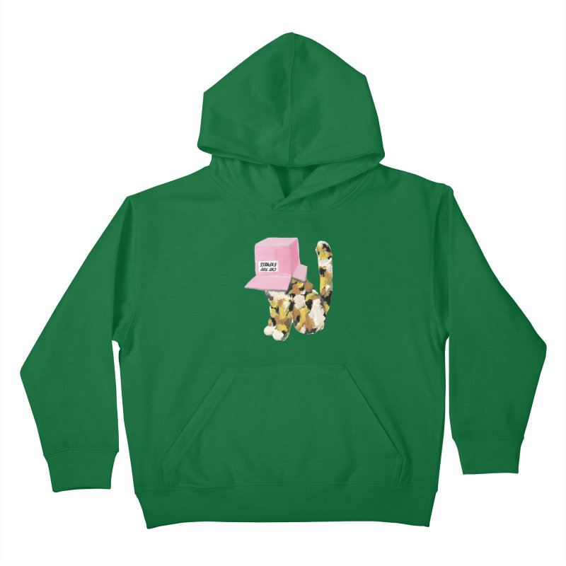 Cat in box Kids Pullover Hoody by BJcaptain's Artist Shop