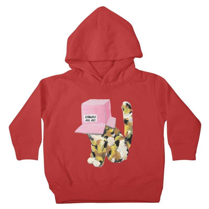 Cat in box Kids Toddler Pullover Hoody by BJcaptain's Artist Shop
