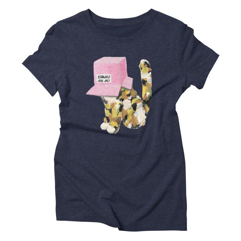 Cat in box Women's Triblend T-shirt by BJcaptain's Artist Shop