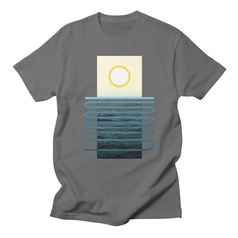 Sunrise At Sea Men's T-Shirt by Sam Arias