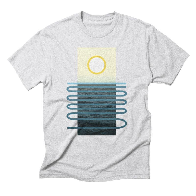 Sunrise At Sea Men's Triblend T-Shirt by Sam Arias