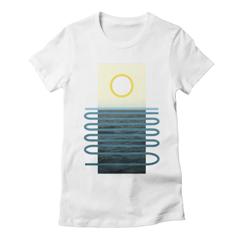 Sunrise At Sea Women's Fitted T-Shirt by Sam Arias