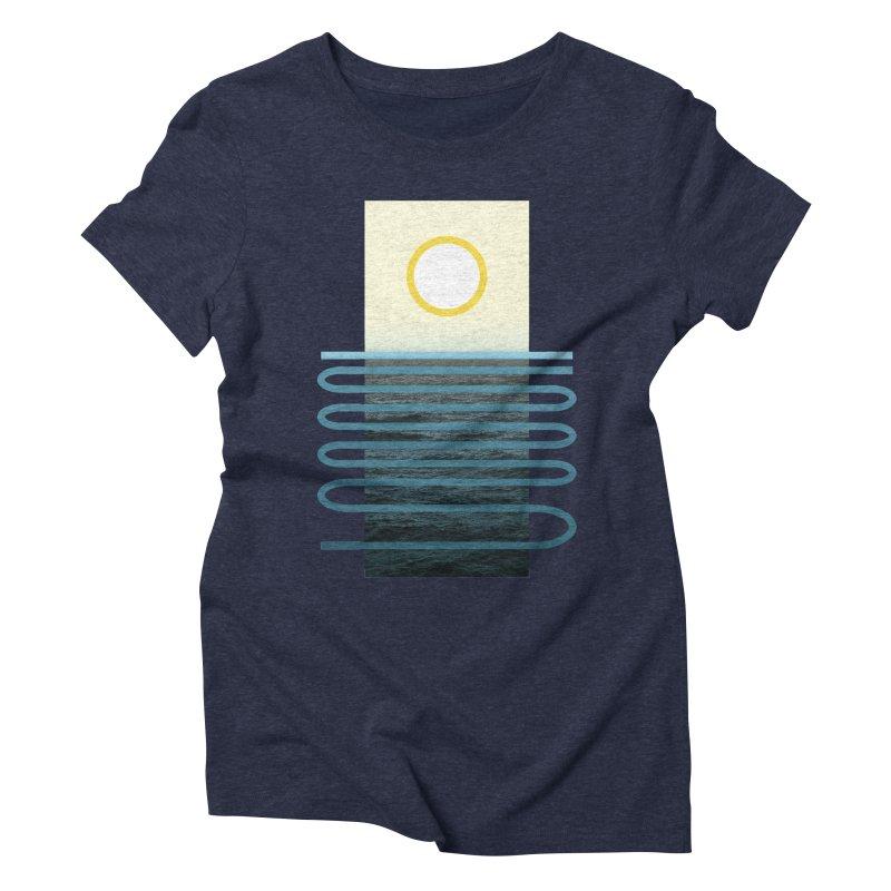 Sunrise At Sea Women's Triblend T-shirt by Sam Arias