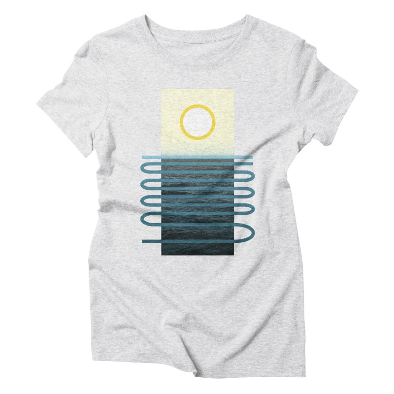 Sunrise At Sea Women's Triblend T-Shirt by Sam Arias