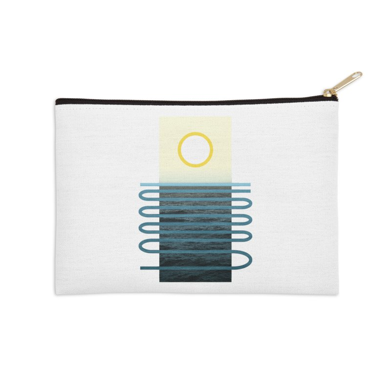 Sunrise At Sea Accessories Zip Pouch by Sam Arias