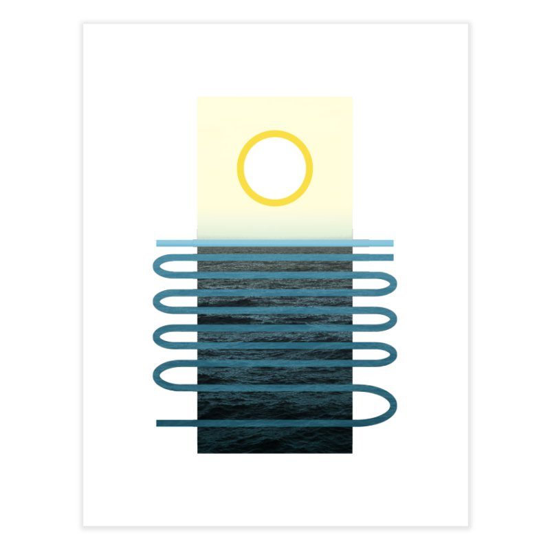 Sunrise At Sea Home Fine Art Print by Sam Arias