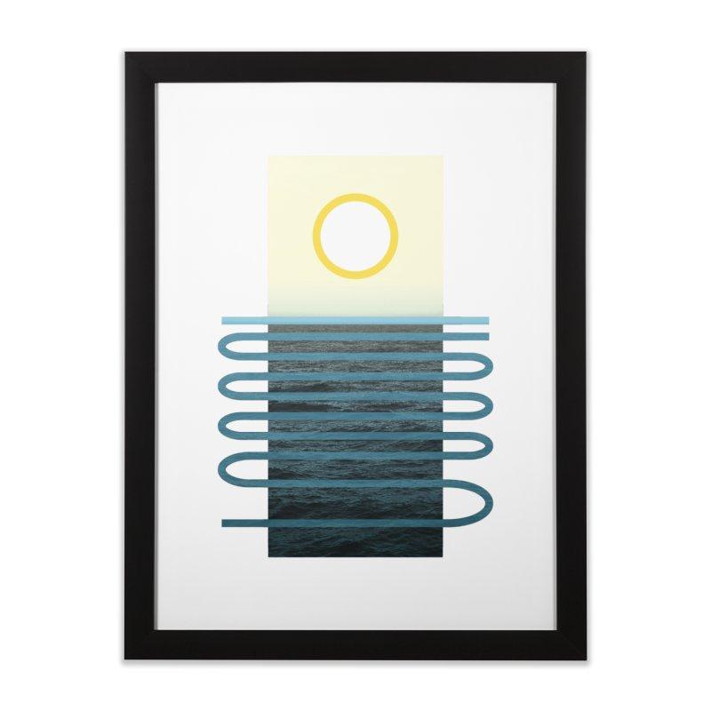 Sunrise At Sea Home Framed Fine Art Print by Sam Arias