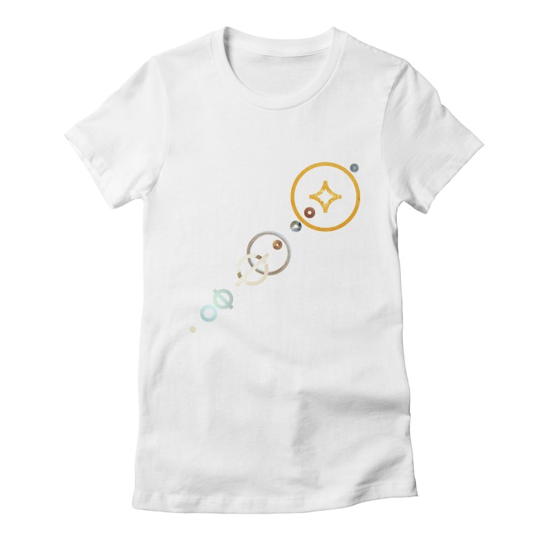 Solar Flare Women's Fitted T-Shirt by Sam Arias