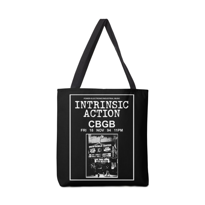 "Intrinsic Action ""CBGB"" Accessories Bag by BLOODYMINDED Shop"